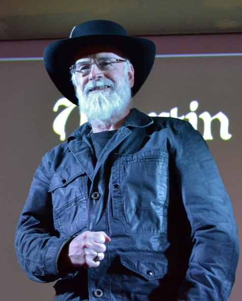 Sir Terry Pratchett at Nullus Anxietas III in 2011
